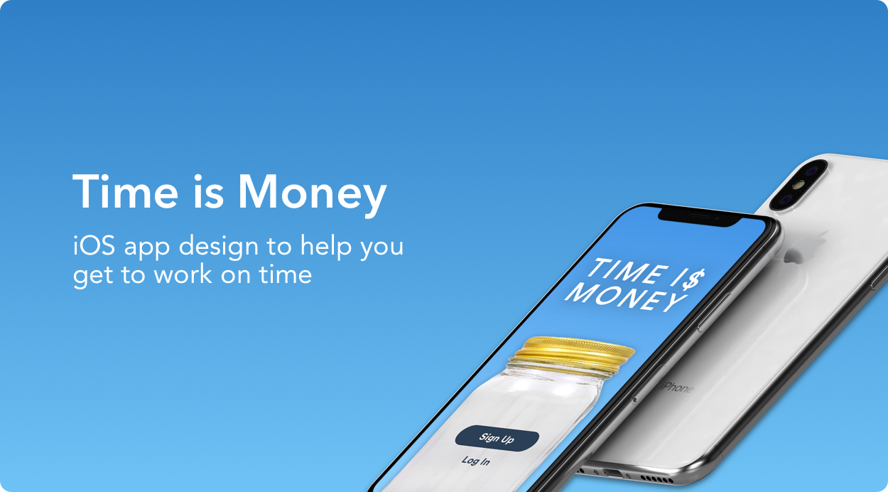 Time is Money project, an iOS app design to help you get to work on time.