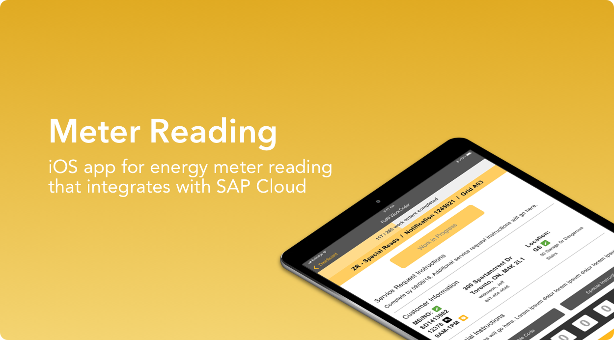 Meter Reading project, an iOS app for energy meter reading that integrates with SAP Cloud.